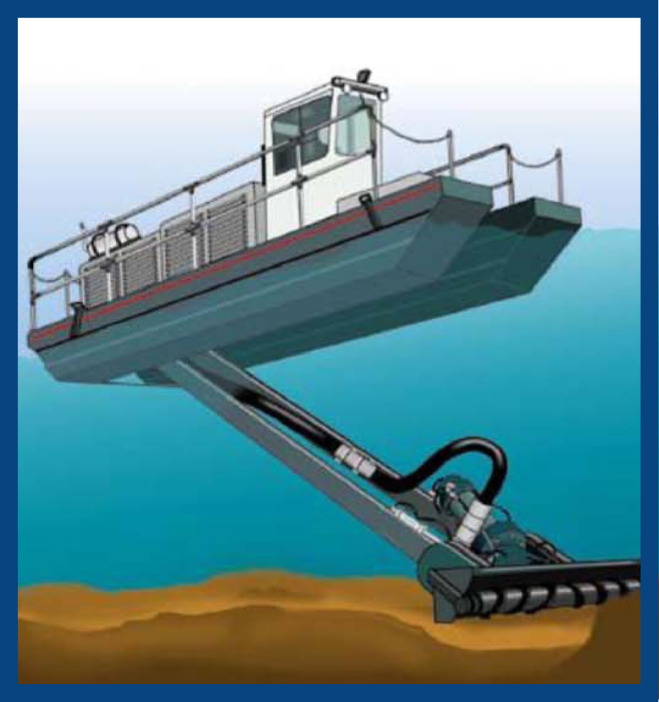 See how the cutterhead of the Rotomite works underwater