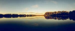 lake, sky, reflection